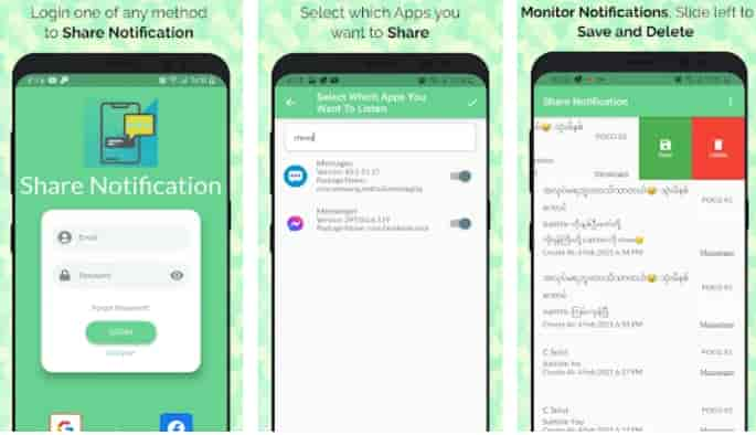 Share Notification and Monitor Noti App